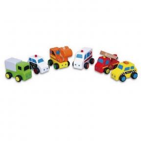 Набір Міні-машинки 6 шт Viga Toys 59621