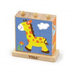 Пазл-кубики вертикальний Сафарі Viga Toys 50834