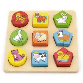 Пазл Форми Тваринний світ Viga Toys 59585