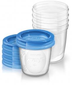 AVENT Контейнеры для молока 5 шт х 180 мл 1688