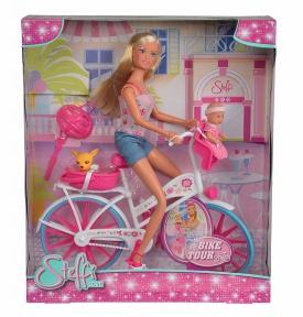 SIMBA Ляльковий набір Штеффі з малюком на велосипеді 5739050