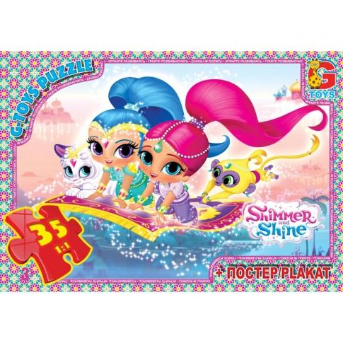 G-TOYS Пазлы 35 Shimmer and Shine 30 x 21 см OS600