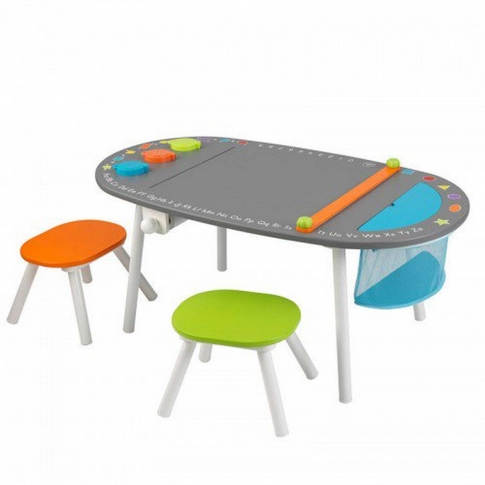 Парта-дошка KidKraft Chalkboard Art Table With Stools 26956