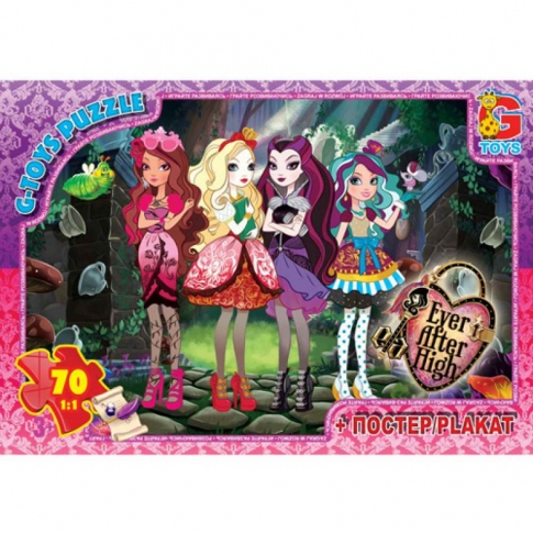 G-TOYS Пазли 70 Ever After High 30 x 21 см AH002