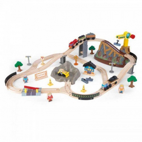 Дерев'яна залізниця KidKraft Bucket Top Construction Train Set 17805