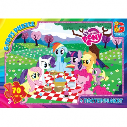 G-TOYS Пазлы 70 My Little Pony 30 x 21 см MLP008