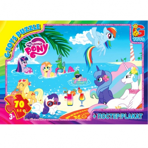 G-TOYS Пазлы 70 My Little Pony 30 x 21 см MLP009