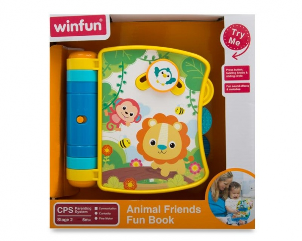 WINFUN Книжка музична Animal Friends Book 0746-NL