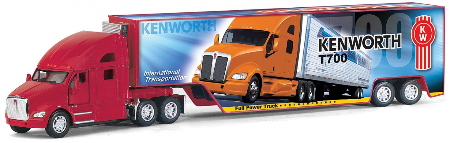 KINSMART Трейлер Kenworth T700 with Container KT1302W