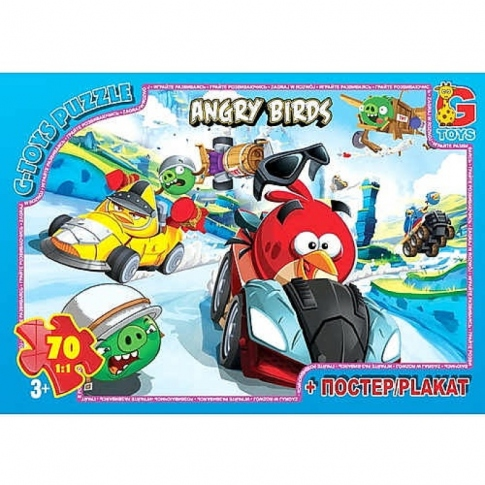 G-TOYS Пазлы 70 Angry Birds 30 x 21 см B001025