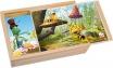 Пазли в дерев'яній коробці Бджілка Майя Bino 13622